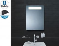 miroir bluetooth lumineux pour salle de bain. Black Bedroom Furniture Sets. Home Design Ideas
