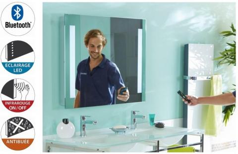Miroir Bluetooth Lumineux pour salle de bain